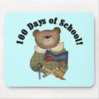 Teddy Bear School 100 Days Tshirts and Gifts Mouse Pad