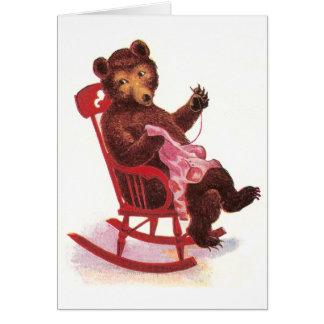 Teddy Bear Sewing Clothes Card