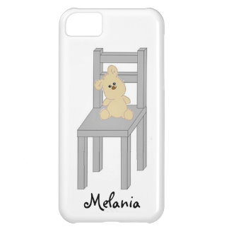 Teddy Bear sitting on Chair iPhone Case iPhone 5C Case