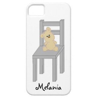 Teddy Bear sitting on Chair iPhone Case iPhone 5 Cover