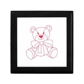 Teddy Bear Small Square Gift Box