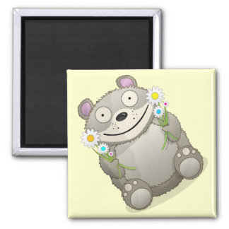 Teddy Bear Square Magnet