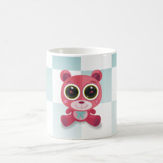 Teddy Bear - Star Eye Pink Coffee Mugs