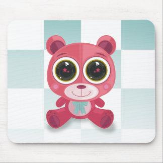 Teddy Bear - Star Eye Pink Mousepad