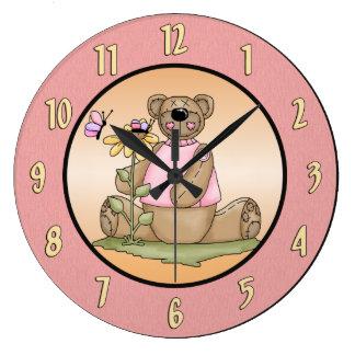 Teddy Bear Summer Wall Clock