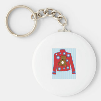 Teddy Bear Sweater Keychain