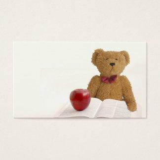 Teddy bear teacher business card