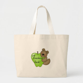 Teddy Bear Teachers Rock Large Tote Bag