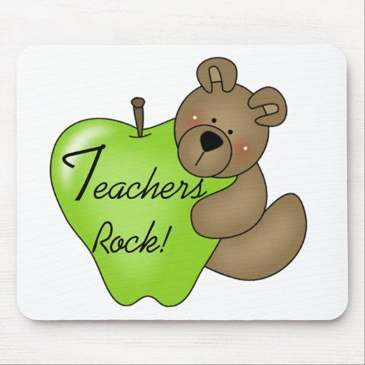 Teddy Bear Teachers Rock Mouse Pad