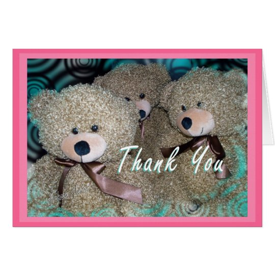Teddy Bear Thank You- customise any occasion Card