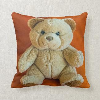 Teddy bear throw cushion