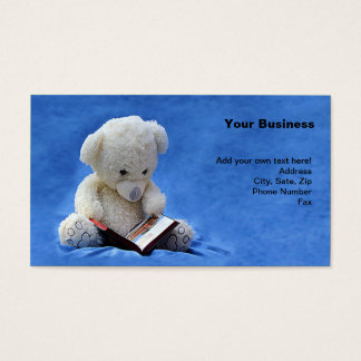 Teddy Bear Time to Read Business Card