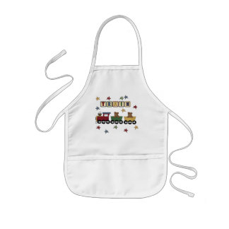 Teddy Bear Train T-shirts and Gifts Kids Apron