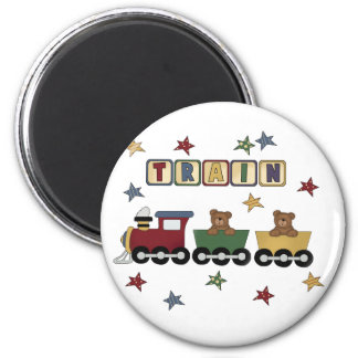 Teddy Bear Train Tshirts and Gifts Magnets