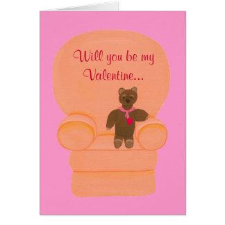 Teddy Bear Valentine Marriage Proposal Cards