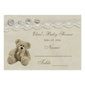 Teddy Bear Vintage Lace Seating Card Pack Of Chubby Business Cards