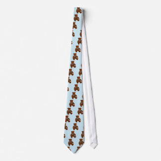 Teddy Bear Watercolor Painting Tie