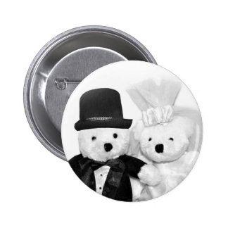 Teddy Bear Wedding 6 Cm Round Badge