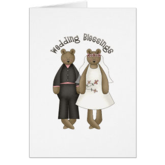 Teddy Bear Wedding Blessings Card