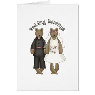 Teddy Bear Wedding Blessings Greeting Card