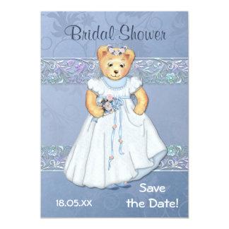 """Teddy Bear Wedding Bridal Shower Invitation 5"""" X 7"""" Invitation Card"""
