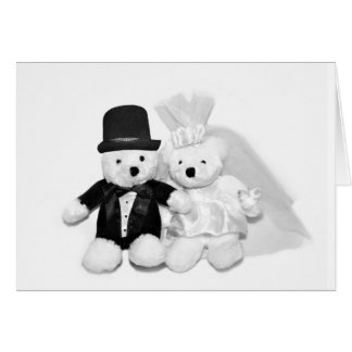 Teddy Bear Wedding Card