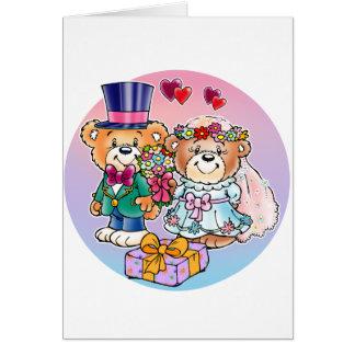 Teddy Bear Wedding Couple Greeting Card