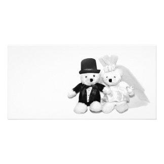 Teddy Bear Wedding Picture Card