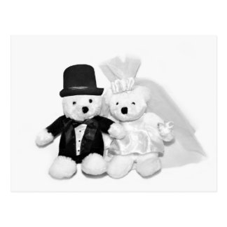 Teddy Bear Wedding Postcard