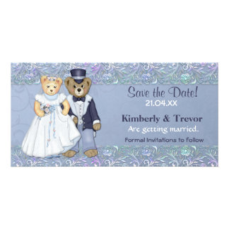 Teddy Bear Wedding Save The Date Photo Cards
