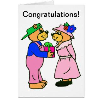 Teddy Bear Wedding Scripture Greeting Card