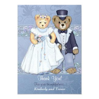 Teddy Bear Wedding Thank You - Customize Card