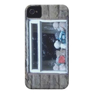 teddy bear window iPhone 4 Case-Mate case