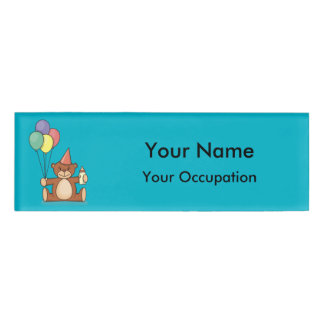 Teddy bear with baloons name tag