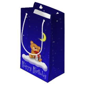 Teddy Bear with Gift Birthday Small Gift Bag