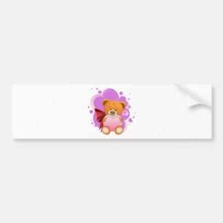Teddy Bear with Heart 2 Bumper Sticker