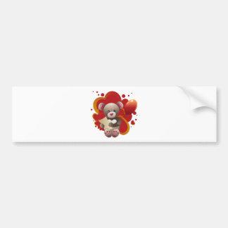 Teddy Bear with Heart 3 Bumper Sticker