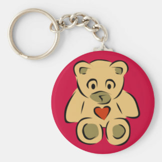 Teddy Bear With Heart Keychain
