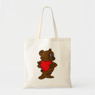 Teddy Bear with Heart Tote Bag