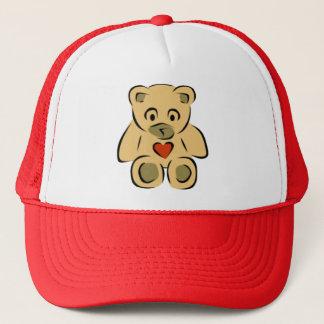 Teddy Bear With Heart Trucker Hat