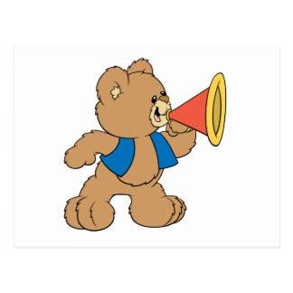 Teddy Bear with Megaphone Postcard