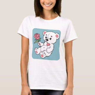 Teddy Bear With Rose T-Shirt