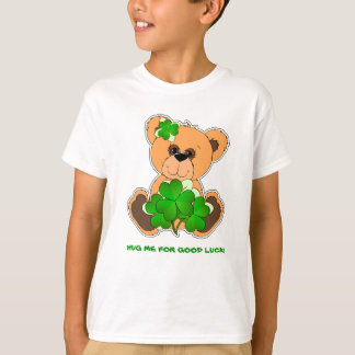 Teddy Bear with Shamrocks St.Patrick's Day T-Shirt