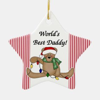 Teddy Bear World's Best Daddy Ornament