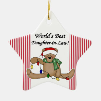 Teddy Bear World's Best Daughter-in-Law Ornament