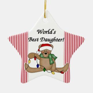 Teddy Bear World's Best Daughter Ornament