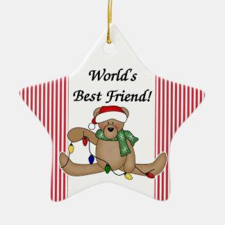 Teddy Bear World's Best Friend Ornament
