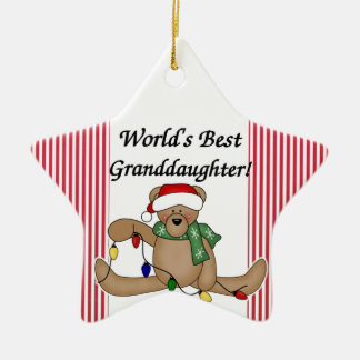 Teddy Bear World's Best Granddauther Ornament