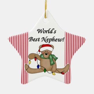 Teddy Bear World's Best Nephew Ornament