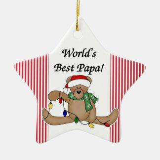 Teddy Bear World's Best Papa Ornament
